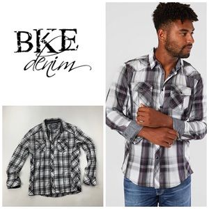 BKE Athletic Fit Casual Button Down Shirt